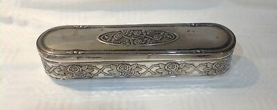 Wmf Alpacca Art Nouveau Jewellery Box With Glass Liner Rose Pattern