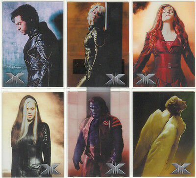 """X-Men The Last Stand - """"Take A Stand Clear Cards"""" Set of 6 Chase Cards #T1-6"""