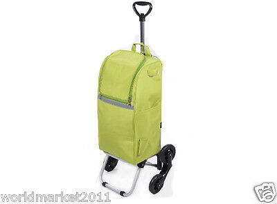 Relaxed Convenient Green Pattern Six-Tire Collapsible Shopping Luggage Trolleys