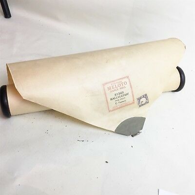 Vintage Meloto Dance Roll Full Scale Hallelujah Fox Trot Pianola Roll