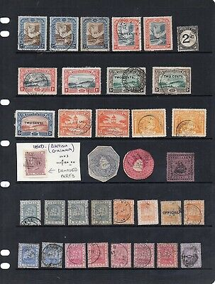 Old Used Commonwealth - British Guiana x 69 - all unchecked