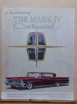 1958 magazine ad for Lincoln - red Continental Mark IV, fourth and finest