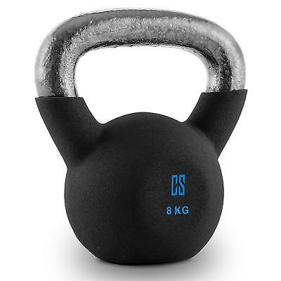 kettlebell stahl kugelhantel hantel gewicht cross training 8kg workout neu vinyl eur 31 99. Black Bedroom Furniture Sets. Home Design Ideas