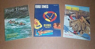 FORD TIMES Lot of 3 Vintage advertising travel magazines 1968 1970 1974