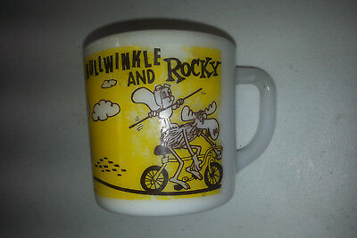 Vintage 1960's Westfield Bullwinkle and Rocky cup Pat Ward