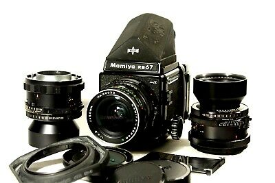 Mamiya RB 67 pro S with lenses, flawed