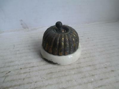 Vintage, Toggle Light Switch. Metal + Ceramic.
