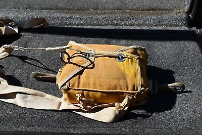 Original WW 2 Parachute Packed in Bag with Ripcord & Unused Log Record RARE!