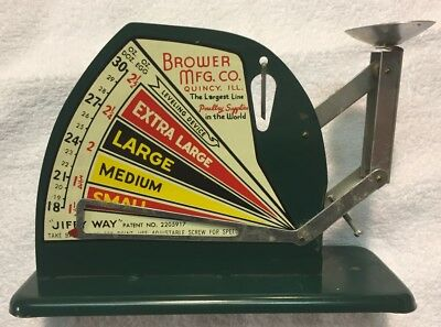 Vintage Antique Jiffy-Way Egg Scale, Brower Mfg. Co. Qiuncy, IL, EXCELLENT