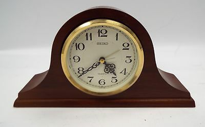 SEIKO Wooden Mantel Clock QUARTZ Movement - W75