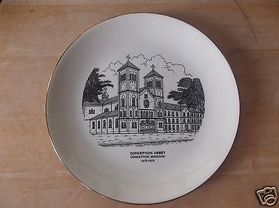 Vintage Conception Abbey in Conception, Mo., Collector Plate 1873-1973