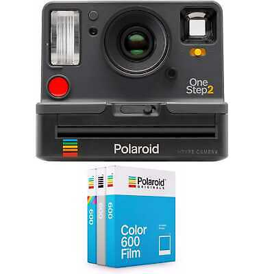Polaroid OneStep2 i-Type Rechargeable Camera (Graphite) w/ Core Film Triple Pack