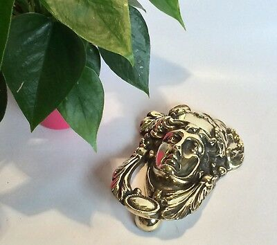 Beautiful Vintage Antique Classical Brass Door Knocker Architectural Reclaim Old