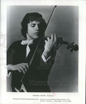 1975 Press Photo Wisconsin-Violinist Eugene Fodor debut with Milwaukee Symphony.