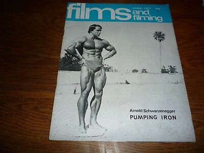Oct 1977. Arnold Schwarzenegger / Pumping Iron Magazine Films & Filming