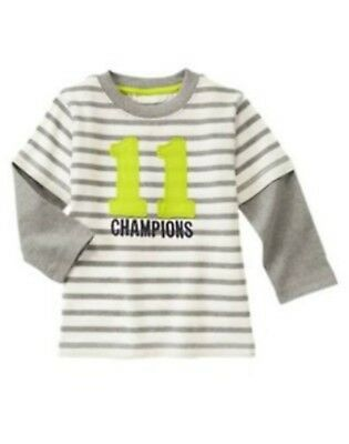 NWT Gymboree Boys Star Brights Champions Soft Striped Shirt Size 2T & 3T