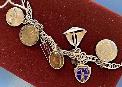 Charm Bracelet 4 of 8 Sterling Silver Charms Xmas Auto New York City New Jersey