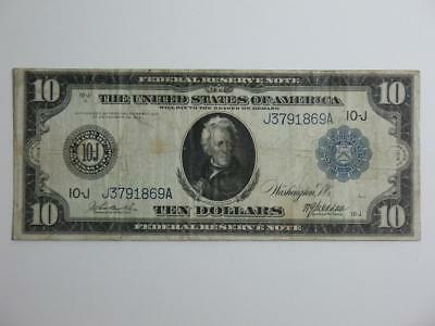 1914 $10 US Federal Reserve Note - Large Size Ten Dollar Kansas City