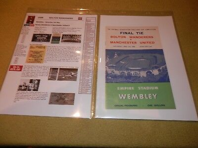 Presentation File of Bolton v Manchester Utd in 1958 FA Cup Final at Wembley