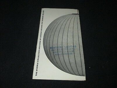 THE BUBBLE COLLECTION-GEORGE NELSON-HOWARD MILLER-LAMPS-1950s BROCHURE CATALOG