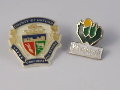 Woodstock Oxford County Crest Ontario Canada Pin Souvenir Travel Collector Lot