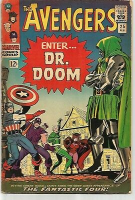 AVENGERS #25    Awesome Book!   DR DOOM Cover!!