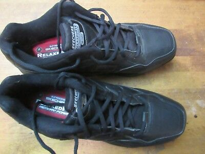 SKETCHERS  Relaxed Fit WORK SHOES Black Size 13 Worn Once