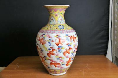 Very Fine And Old  Chinese  Porcelain Vase With Bat Marked .