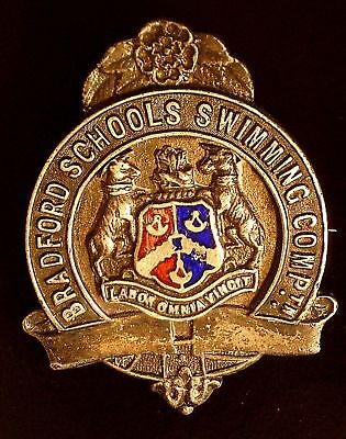 1930 Bradford & Schools Silver Swimming Medal awarded to Elsie Schofield