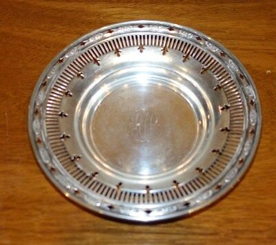Vintage Beautiful Solid Sterling Silver Pierced Bowl - Pierced Design