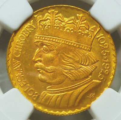 Poland Gold 20 Zlotych 1925 MS 63  NGC