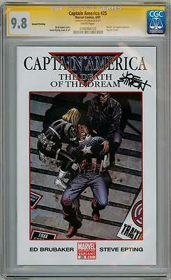 Captain America #25 2Nd Print Cgc 9.8 Signature Series Signed Joe Simon Movie 3