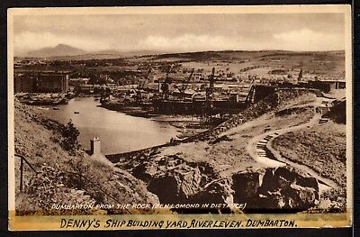 Postcard ~ DENNY'S SHIPBUILDING YARD River Leven in DUNBARTONSHIRE ~ Early