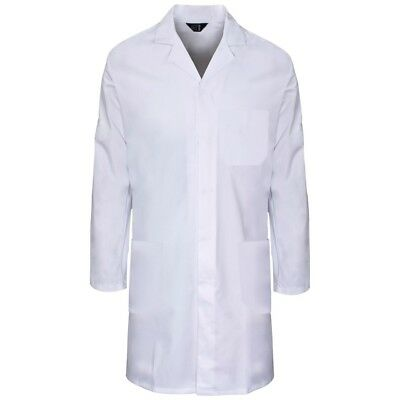 Size LARGE Supertouch Mens White Polycotton Lab Coat Warehouse Laboratory Smock