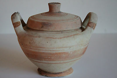 ANCIENT GREEK POTTERY LEBES GAMIKOS 4th CENTURY BC MAGNA GRECIAN