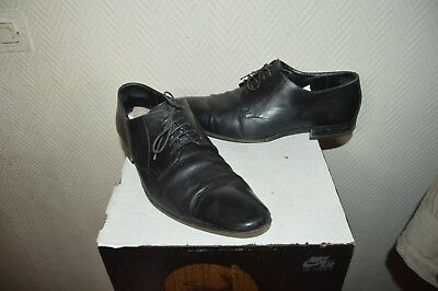 Chaussure De Luxe Hugo Boss Taille 44 Shoes/zapatos/scarpe Cuir/leather Us 10