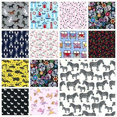 Rose & Hubble 100% Cotton Poplin Fabric - Various Designs