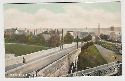 """""""Shotts From The Station"""":~1905 (Est) Vintage PPC by Laidlaw, Shotts. VG Unused."""