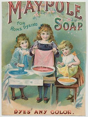 Maypole Soap for Home Dyeing - Victorian Trade Card