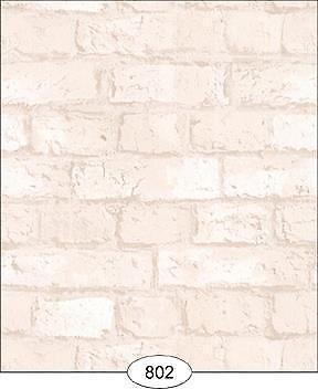 Miniature Dollhouse Wallpaper 1:12 Scale - Weathered Brick White - 0802