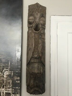 Totem Pole Carved Wood Haida ,   North American