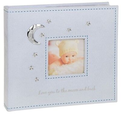 Love You To The Moon - Baby Boy Photo Album (Blue) 4x6""