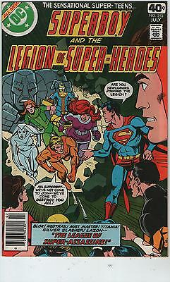 SUPERBOY & LEGION OF SUPER HEROES # 253 - 1st App BLOK  ( SCARCE - 1979 )