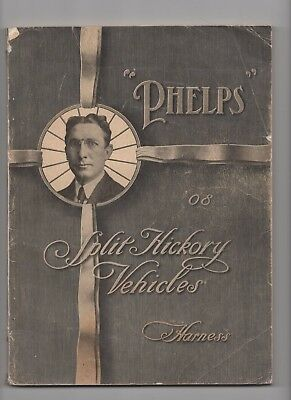 1908 Phelps Split Hickory  Vehicles Catalog, Horse Drawn Carriages, Buggies