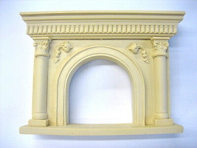 Dollhouse Miniature Fireplace Mantle * Stainable * Paintable