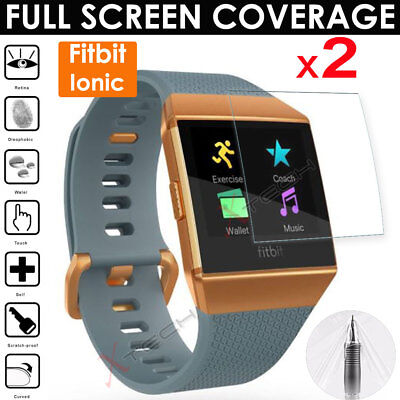 2x FULL SCREEN TPU Screen Protector Cover Guards for Fitbit Ionic