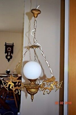 Arts & Craft French Antique Cupid Arrows  Angel Chandelier
