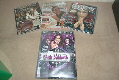 4 Black Sabbath / Ozzy Themed Magazines