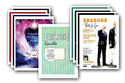 ERASURE - 10 promotional posters  collectable postcard set # 5
