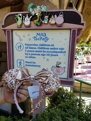 Disney Rose Gold Ears Mickey Minnie Mouse New With Tags